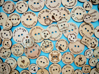 Buttons Co2 Laser engraving &cutting samples