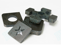 Carbon steel laser cutting samples
