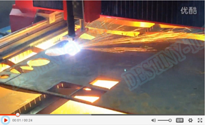 10mm carbon steel Plasma cutting DESTINY-CNC TECH