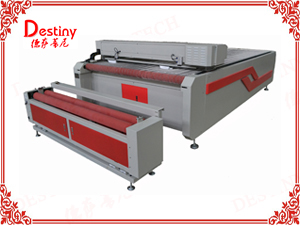 DT-1830 large bed auto-feed fabric CO2 laser cutting machine