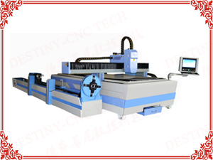DT-1530 500W/750W/1000W 3m metal pipe&sheet AIO Fiber laser cutting machine