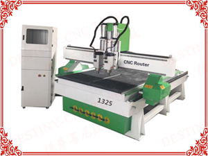 DT-1325T heavy duty Double heads Cylinder ATC  CNC Router