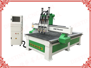 DT-1325 Three cylinder heads ATC CNC Router with vacuum system