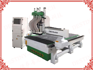 DT-1325T Heavy duty Three cylinder heads ATC CNC Router with vacuum system
