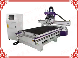 DT-1325T Heavy duty four cylinder heads ATC CNC Router