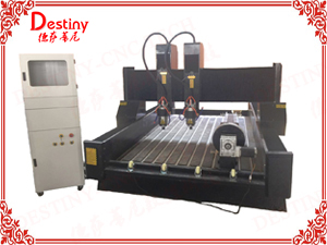 DT-1325T/1530T Double heads Stone CNC Router with rotary device